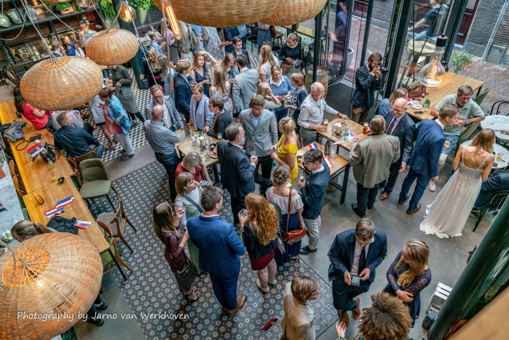 Gathering of guests and family in 'De Waag', Leiden.