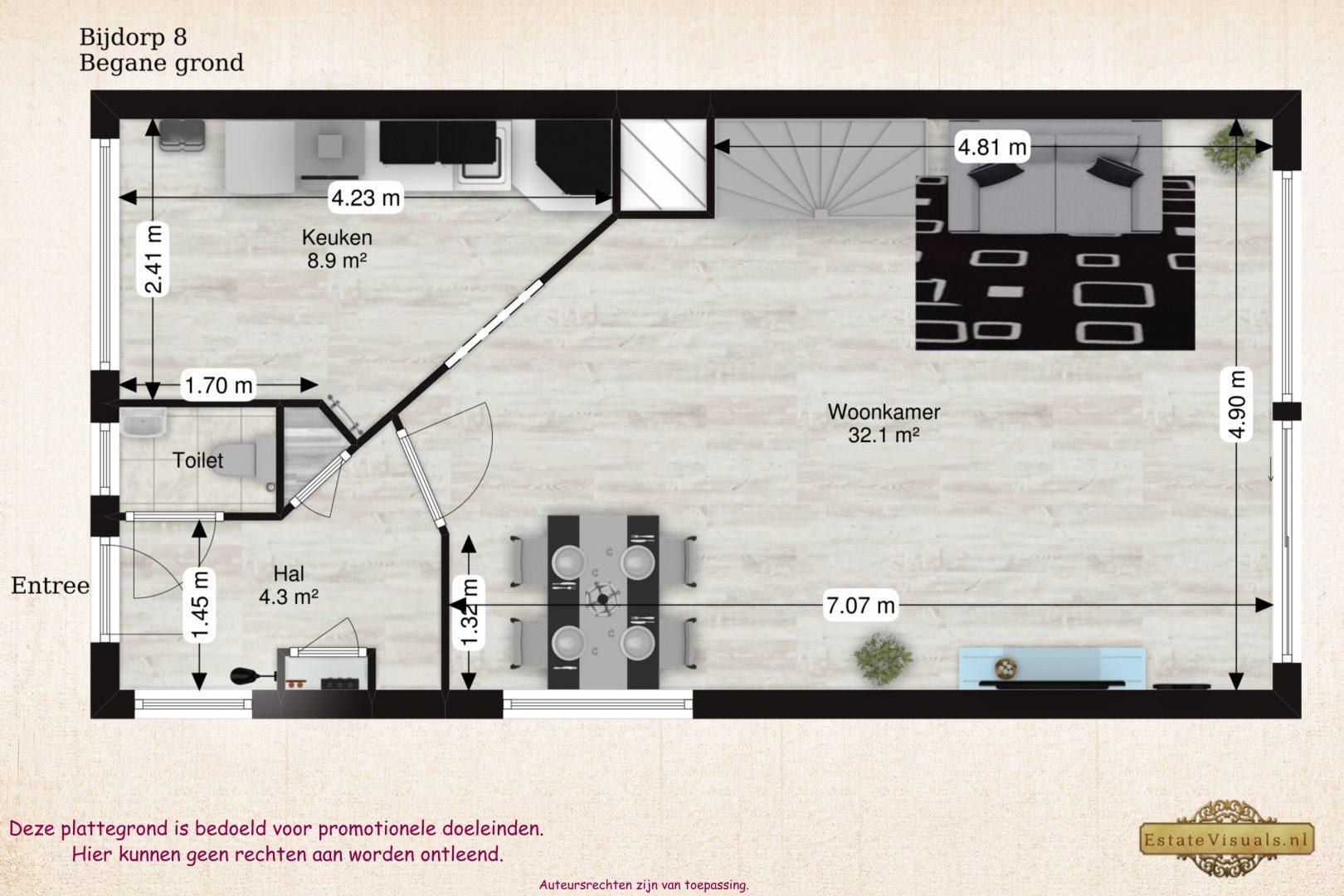 Floorplan 2D Bijdorp 8, Leiderdorp