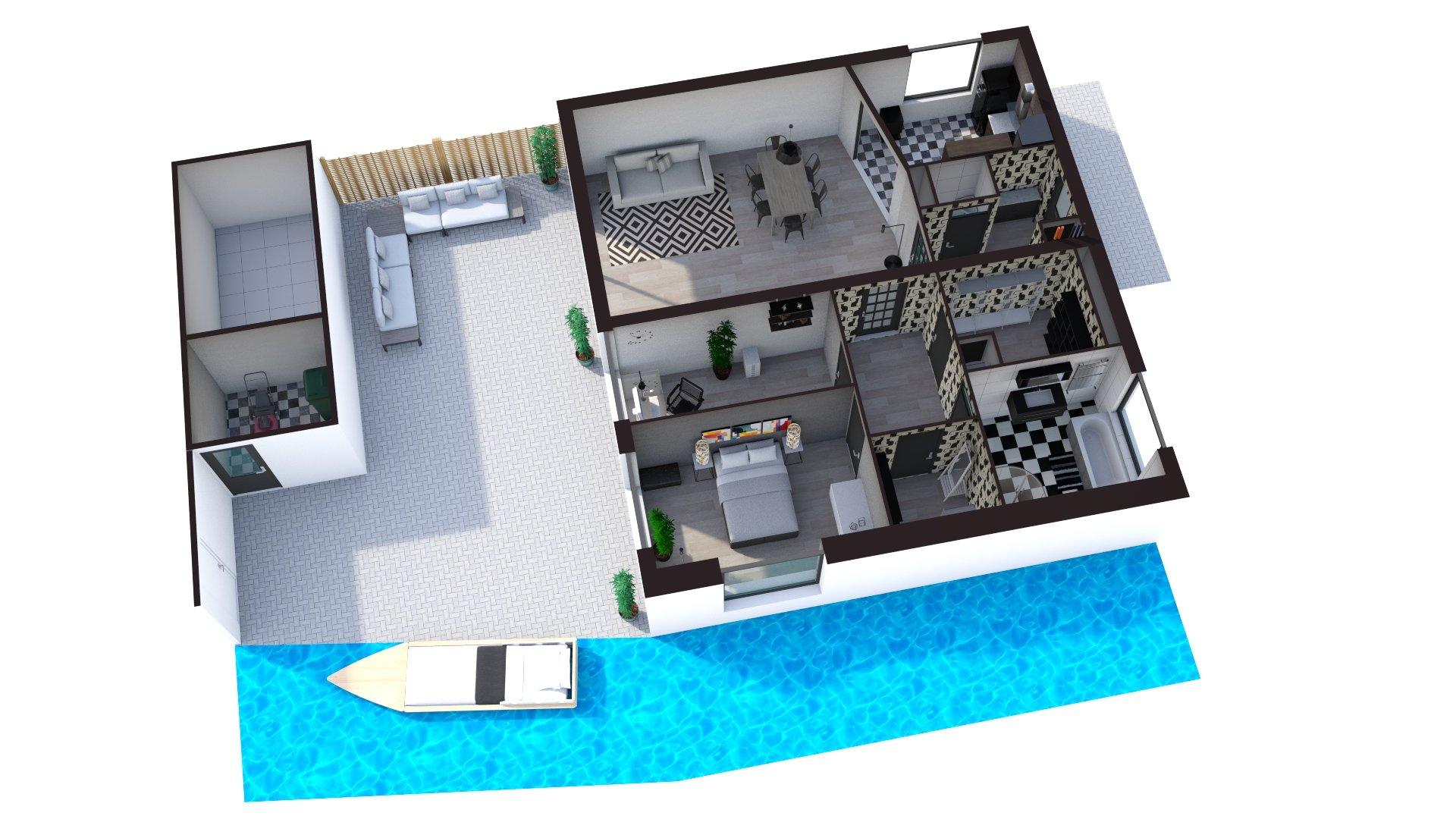 Floorplan 3D Zoeterwoudseweg 46, Leiden.