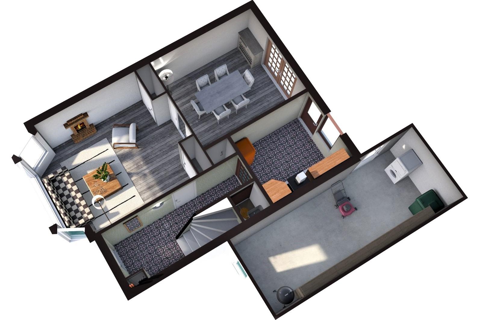 Floorplan Rijnegommerstraat 8, Zoeterwoude Dorp