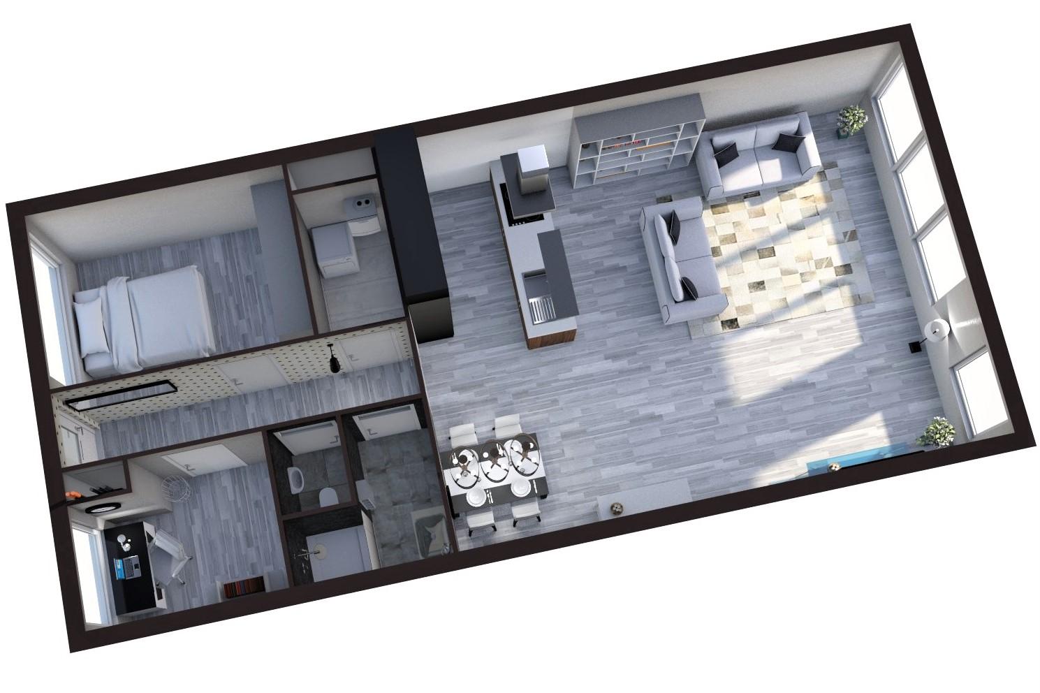 Floorplan J.L. van Rijweg 118, Zoetermeer