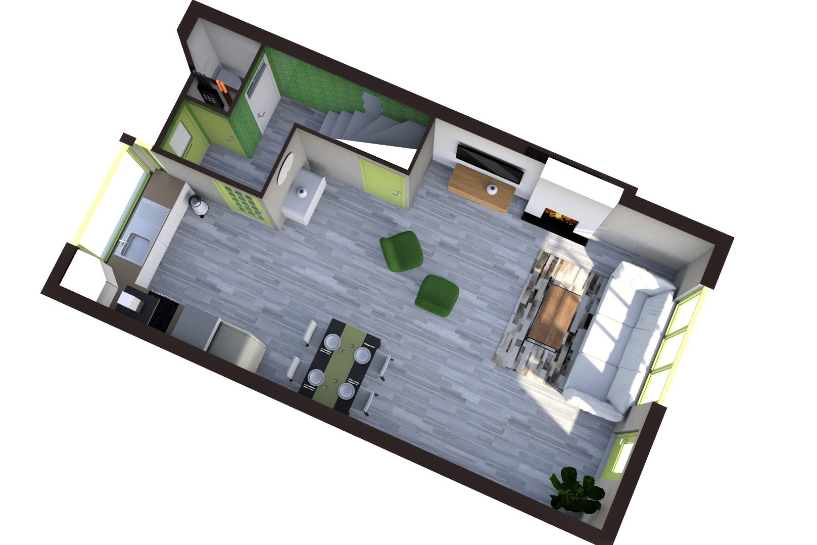 Floorplan Theo Bosmanlaan 31, Hoogmade