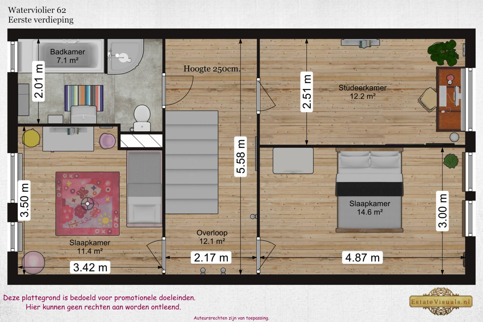 floorplan plattegrond vastgoed 2D