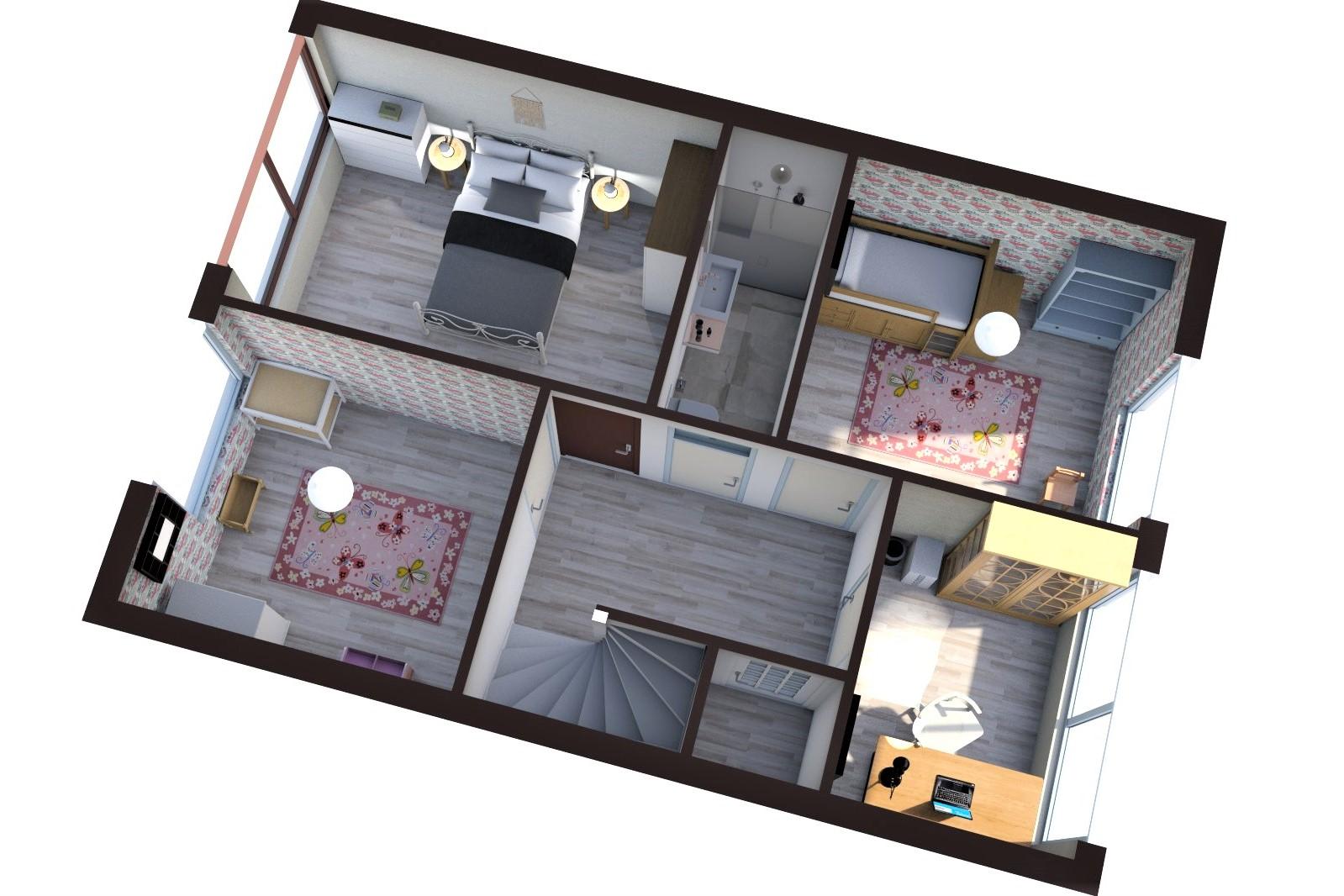 floorplan plattegrond vastgoed 3D