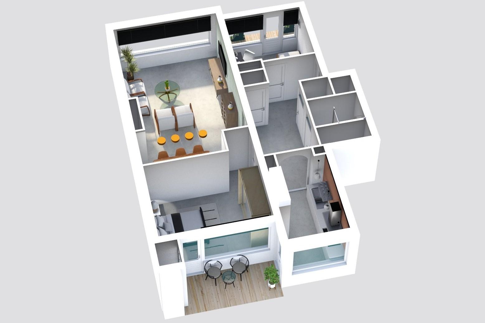 floorplan woning plattegrond